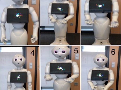 Pepper communicates uncertainty using gestures